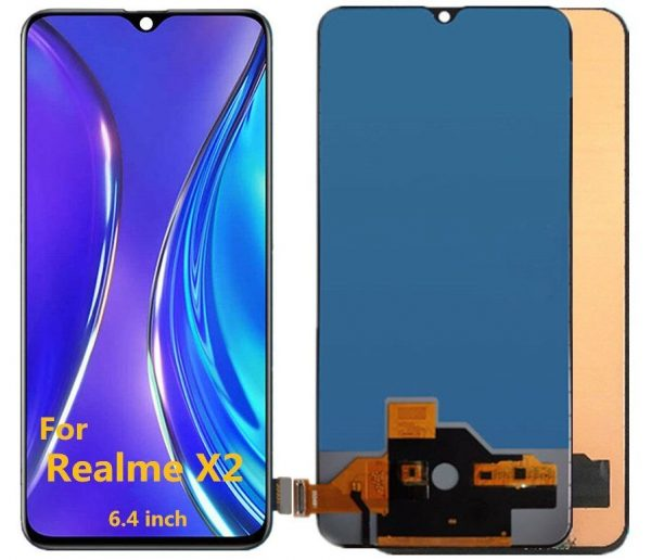 Realme X2 LCD with Touch Screen for -(display glass combo folder)
