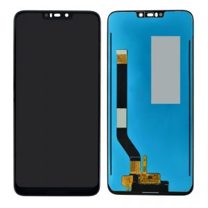 Huawei Honor 8C LCD with Touch Screen – Black (display glass combo folder) 1
