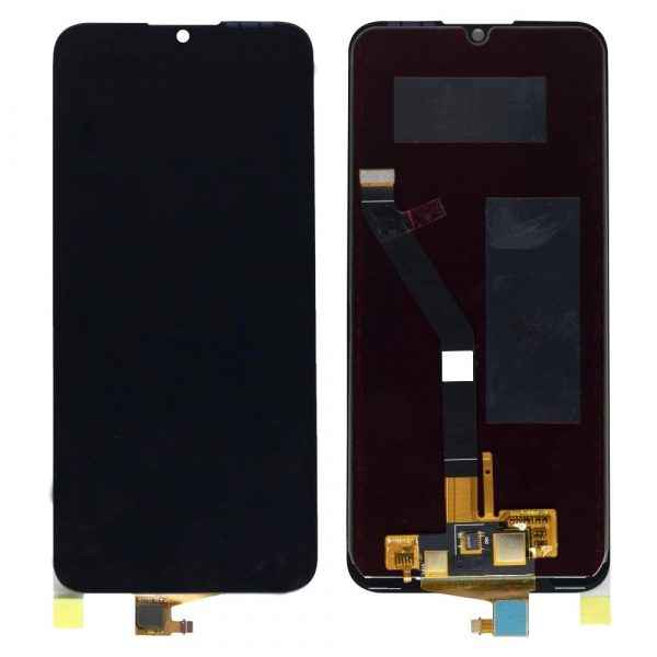 Huawei Y6 2019 LCD with Touch Screen - Black (display glass combo folder)
