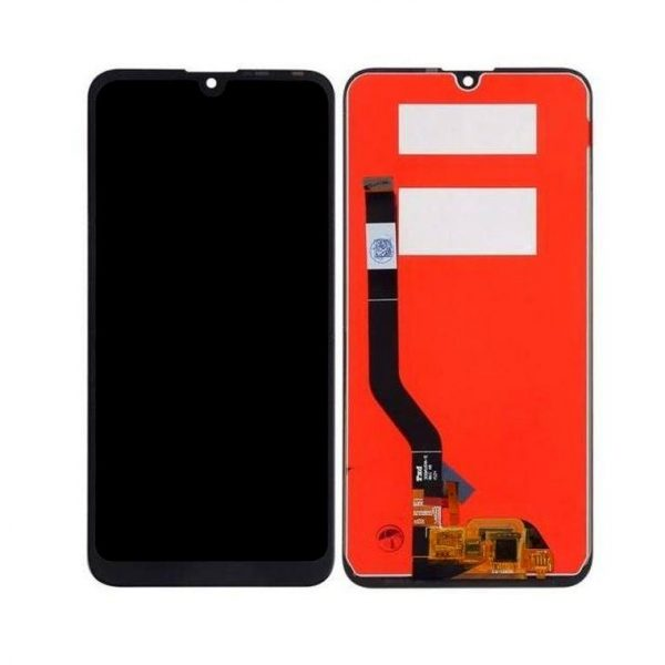 Huawei Y7 2019 LCD with Touch Screen - Black (display glass combo folder)