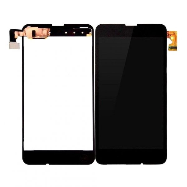 Nokia Lumia 635 RM-974 LCD with Touch Screen - Black (display glass combo folder)