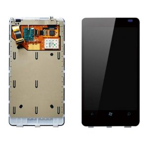 Nokia Lumia 800 LCD with Touch Screen - Black (display glass combo folder)