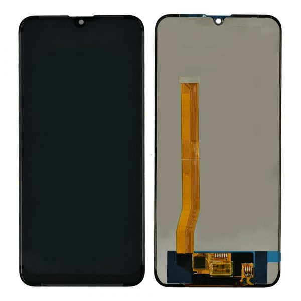 Realme C2 LCD with Touch Screen - Black (display glass combo folder)