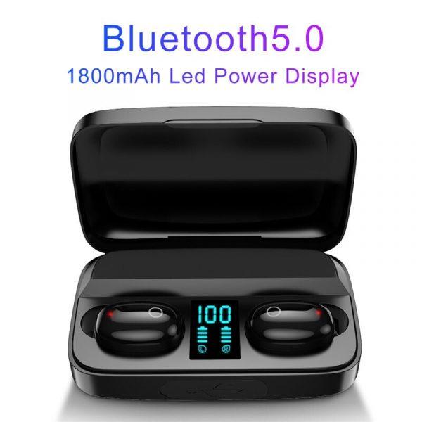 Kulakl k Bluetooth5 0 ger ek kablosuz A10S TWS kulakl klar LED ekran 1800mAh g banka