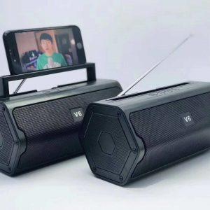 Um V6 2019 New Mini Bluetooth Portable Speaker Wireless Speaker Original Bluetooth Portable Outdoor Multimedia Speaker Stereo System